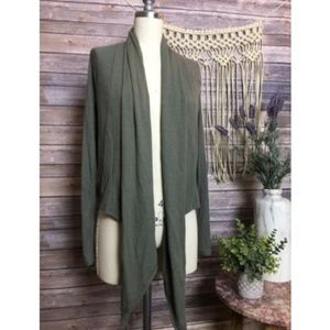 UO Out From Under Green Ribbed Cardigan